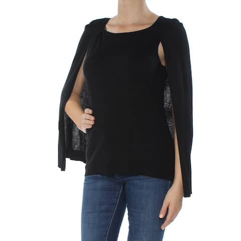 KOBI Womens Black Overlay Sleeveless Scoop Neck Sweater Size: M