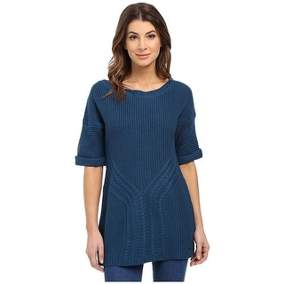 Calvin Klein Jeans Elbow Sleeve Cable Knit Sweater - M