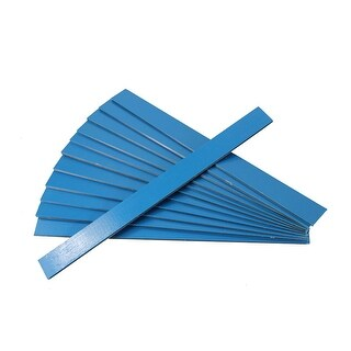 25 Blue Wooden Straight Edges with Metal Strips Office Supplies - 12""