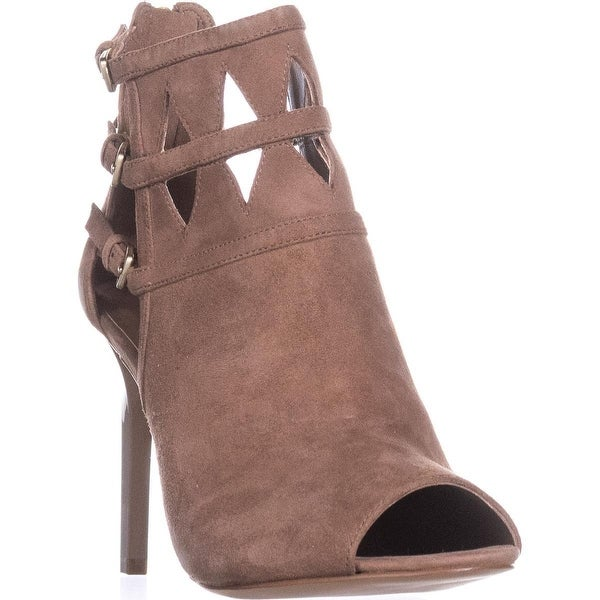 Nine West Laulani Cutout Open Toe Dress Booties, Natural - 8 us