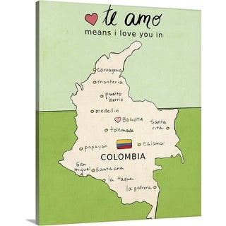 """Colombia"" Canvas Wall Art"