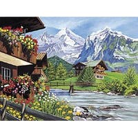 """Mountain Scene - Paint By Number Kit 12""""X16"""""""