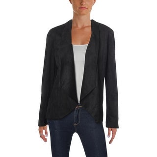 Link to Nine West Womens Open-Front Blazer Faux Suede Wing Collar Similar Items in Suits & Suit Separates