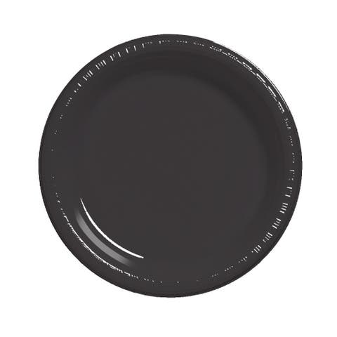 "Touch of Color 20 Count 7"" Heavy Duty Plastic Plates Black Velvet - Multi"