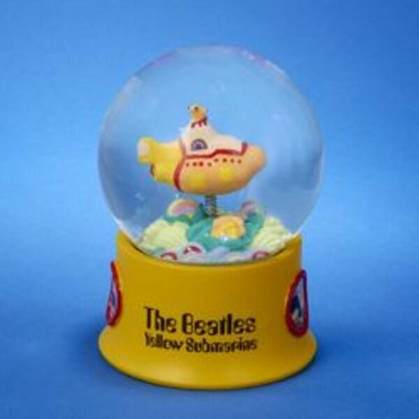 "5.75"" The Beatles ""Yellow Submarine"" Glass Snowglobe"