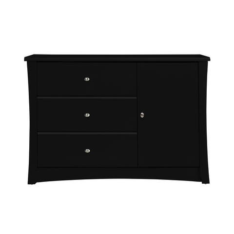 Storkcraft Crescent 3 Drawer Combo Dresser - 3 Spacious Drawers, Cabinet with 2 Concealed Shelves