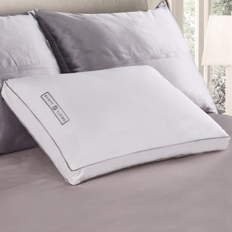 SCOTT LIVING Poly Around White Goose Feather And Down Gusseted Pillow