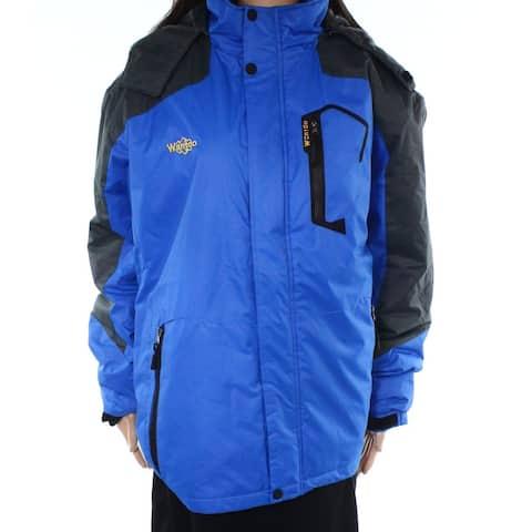 Wantdo Blue Womens Size Large L Fleece-Lined Waterproof Ski 6Jacket