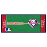 MLB Philadelphia Phillies Non-Skid Baseball Mat Area Rug Runner