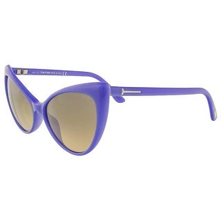 Tom Ford FT303/S 81Z Anastasia Electric Blue Full Rim Cateye Sunglasses