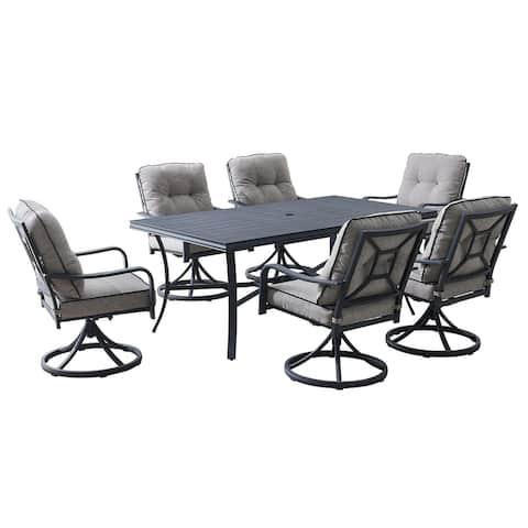 OVE Decors Davenport 7-Piece Grey Dining Set