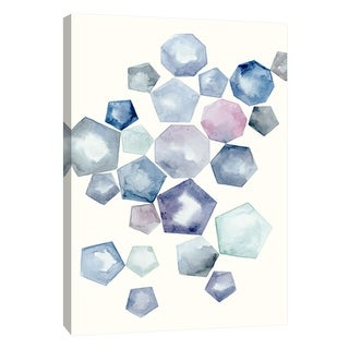 "PTM Images 9-105692  PTM Canvas Collection 10"" x 8"" - ""Watercolor Hexagons A"" Giclee Abstract Art Print on Canvas"