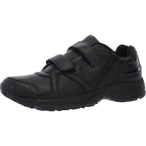 Fila Mens Talon 2 Walking Shoes Faux Leather Sneakers - Black/Black/Black
