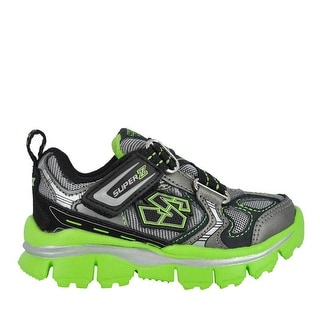 Skechers Kids Gunmetal/Lime Extreme Flex 95450 - Black
