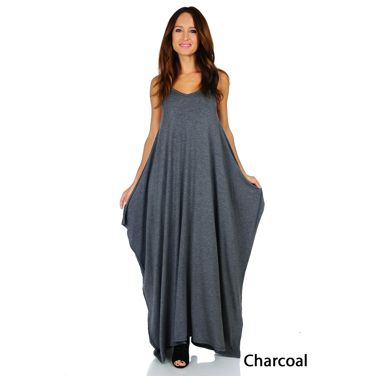 Simply Ravishing Women's Maxi Boho Harem Spaghetti Strap Dress (Size: Small - 3X) - Thumbnail 11
