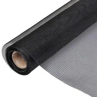 """vidaXL Fiberglass Mesh Roll Insect Screen Door / Window 3' 3"""" x 33' Black"""