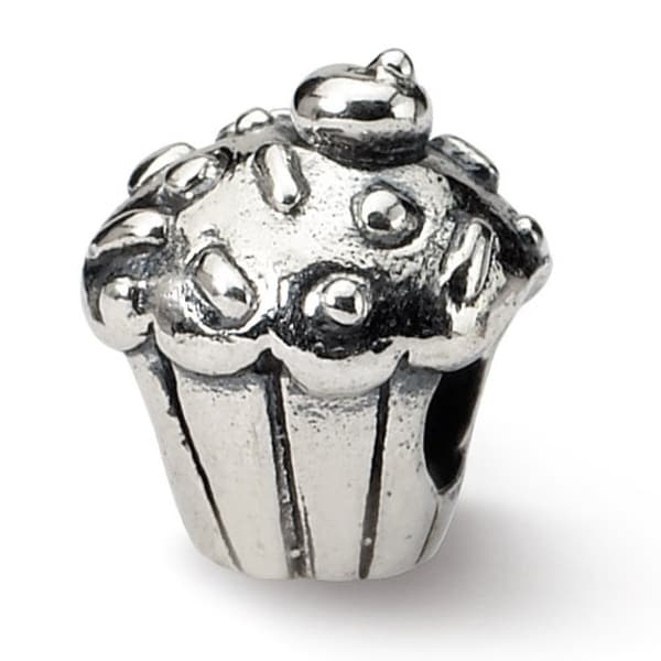 Sterling Silver Reflections Kids Cupcake Bead (4mm Diameter Hole)
