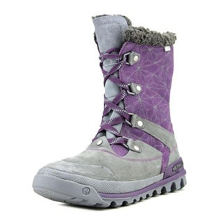 Merrell Silversun Lace Women Round Toe Synthetic Purple Winter Boot