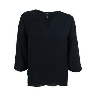 Alfani Women's Tab-Sleeve High-Low Top