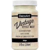 Vintage Effect Wash Paint 2Oz-Beige