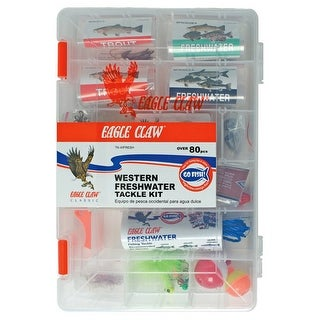 Eagle Claw Western Freshwater Tackle Kit, 80 Piece