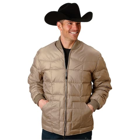 Roper Western Jacket Mens Down-like Fill Rib Knit
