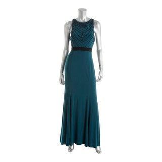 Xscape Womens Evening Dress Sleeveless Beaded