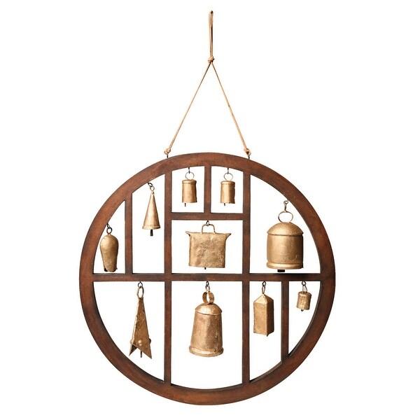 Circle of Bells Indoor/Outdoor Wind Chime Garden Outdoor Decor - Brown - 18 in.. Opens flyout.