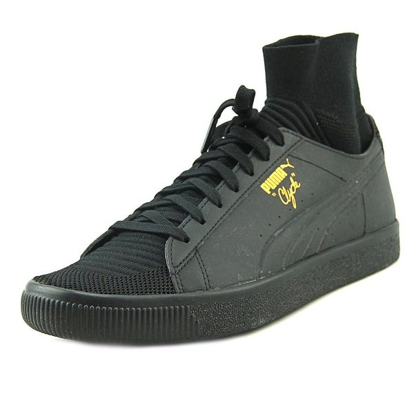 Puma Clyde Sock Solar Fm Men Round Toe Synthetic Black Sneakers
