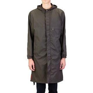 Prada Men's Nylon Parka Windbreaker Jacket Olive Green
