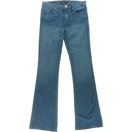 Sanctuary Womens Alexa Mid-Rise Medium Wash Flare Jeans