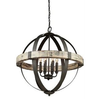 Artcraft Lighting AC10016 Castello 6 Light Wood Globe Chandelier - 27 Inches Wide