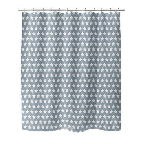 MERCA STARS SLATE Shower Curtain By Kavka Designs