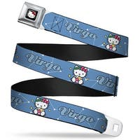 Hello Kitty W Red Bow Full Color Black Hello Kitty Zodiac Virgo Webbing Seatbelt Belt