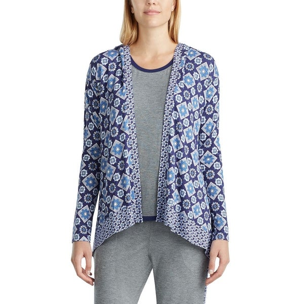 Shop Layla Womens Mixed Print Hooded Cardigan Pajama Top