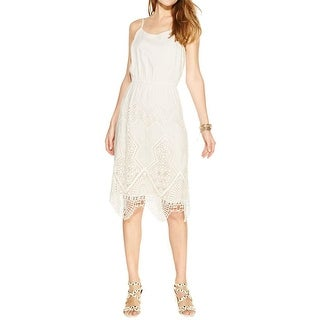 Vince Camuto Womens Moroccan Mirage Casual Dress Silk Blend Lace Inset