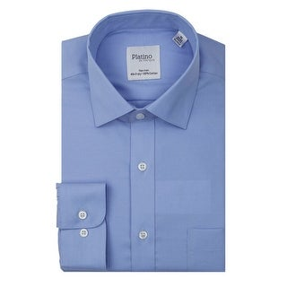 Marquis Men's Solid Non-Iron Dress Shirt With Convertible Cuff & Seam Taping