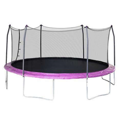 Skywalker Trampolines Purple 17-foot Oval Trampoline with Enclosure