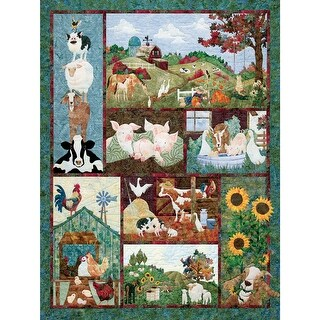 Outset Media Jigsaw Puzzle 500 Pieces 24 x 18 in. Back on The Farm