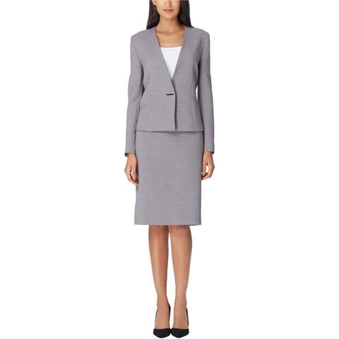 Tahari Womens Solid Pencil Skirt, Grey, 12