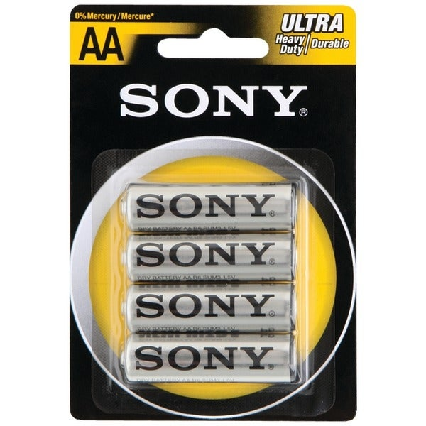 Sony S-Sum3Nub4A Heavy-Duty Carbon Zinc Batteries (Aa; 4 Pk)