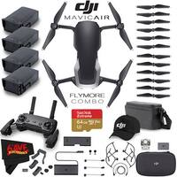 DJI Mavic Air Fly More Combo (Onyx Black) + Extra DJI Intelligent Flight Battery + Extreme 64GB Memory Card Accessory Bundle