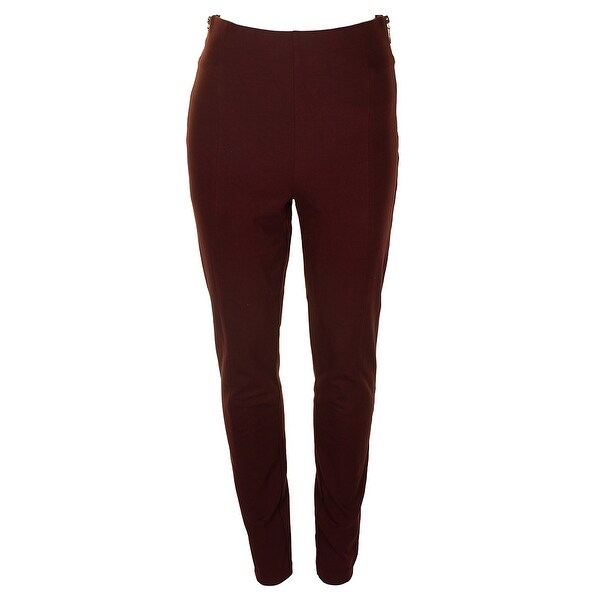 756a1dd741dfd Inc International Concepts Wine Side Zipper High-Waist Pull On Skinny Pants  8
