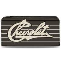 Chevrolet Heritage Script Stripe Charcoal Tan Canvas Snap Wallet - One Size Fits most
