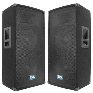 "Seismic Audio Pair Dual 10"" PA DJ Speakers 600 Watts ~Pro Audio Band"