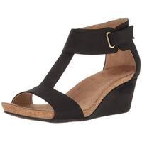 Adrienne Vittadini Womens Trellis Open Toe Casual Ankle Strap Sandals