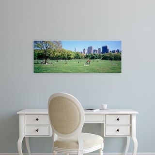 Easy Art Prints Panoramic Image 'People In A Park, Sheep Meadow, Central Park, NYC, New York City, New York' Canvas Art