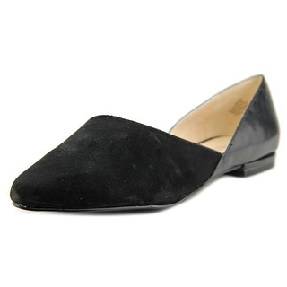 Nine West Sael Women Pointed Toe Suede Black Flats