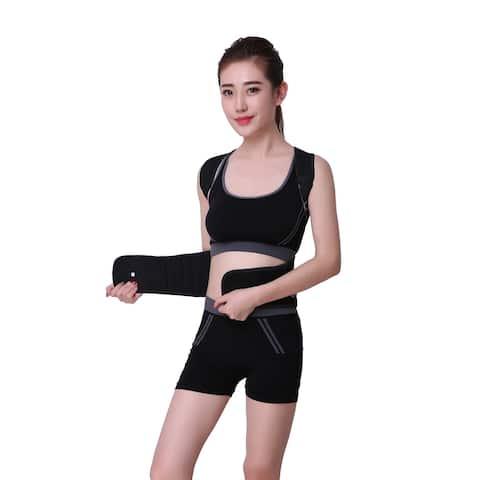 Posture Corrector Back Brace Support Belt for Upper Back Pain Relief - Black