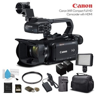 Canon XA11 Compact Full HD Camcorder 2218C002 With 64GB Memory Card, Extra Battery and Charger, and More. - Starter Bundle